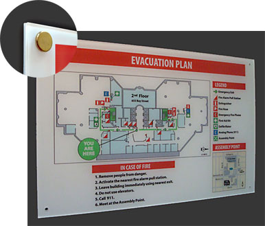 Fire Evacuation Signage